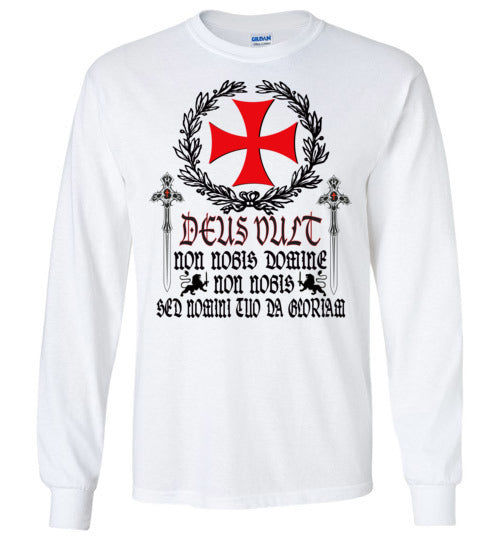 Knights Templar Deus Vult ,v28,Long Sleeve T-Shirt