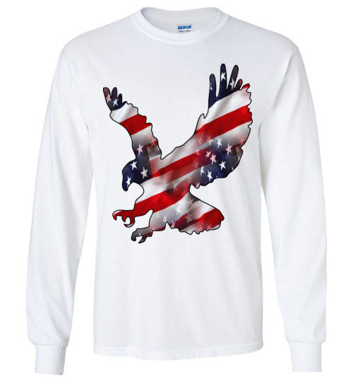 Eagle American USA , Gildan Long Sleeve T-Shirt