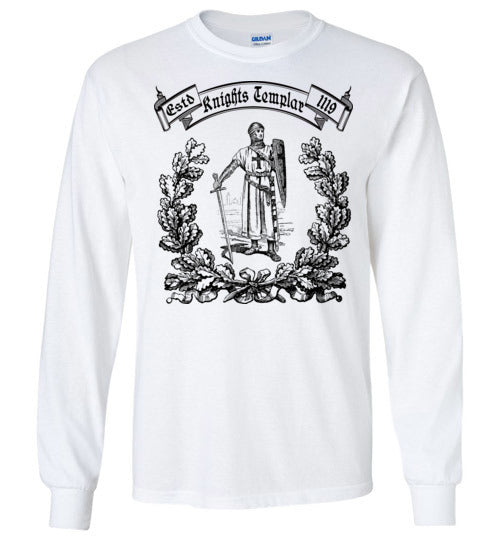 Knights Templar Deus Vult ,v25,Long Sleeve T-Shirt