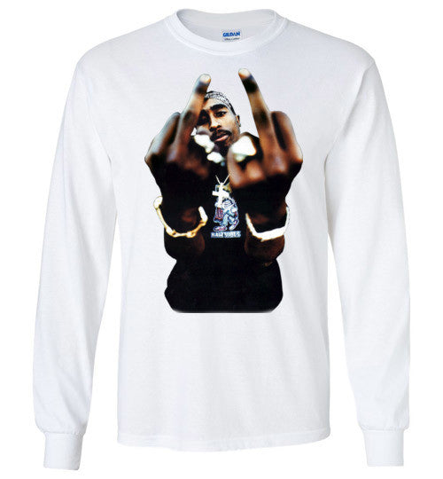 Tupac 2pac Shakur Makaveli Death Row v4 , Gildan Long Sleeve T-Shirt