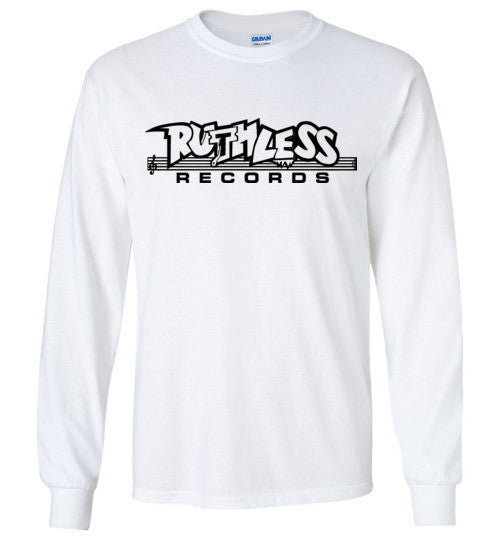 Ruthless Records, Eazy e,nwa,ice cube,dr dre,compton, Hip Hop , Black Print, Gildan Long Sleeve T-Shirt