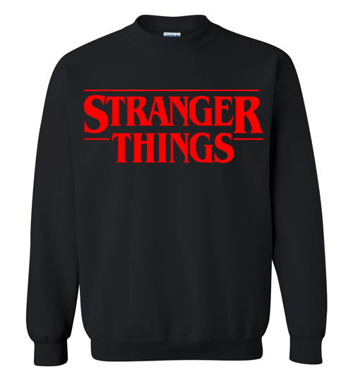 Stranger Things Red Print ,Gildan Crewneck Sweatshirt