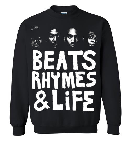 ATCQ A Tribe called Quest Classic Hip Hop New York City Beats Rhymes & Life Phife Dawg Q-tip ,v6, Gildan Crewneck Sweatshirt
