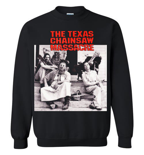 The Texas Chain Saw Massacre,1974 horror film,Leatherface,Ed Gein, slasher,v6,Gildan Crewneck Sweatshirt