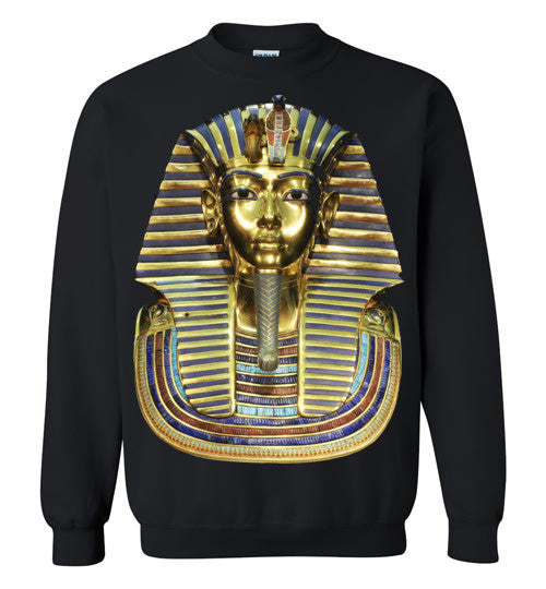 Egyptian Pharaoh King Tut HipHop Dope Swag Illuminati v2, Gildan Crewneck Sweatshirt