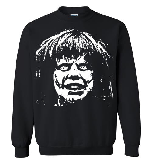 The Exorcist Linda Blair Classic Horror Movie Occult Supernatural Demons Satan ,v2,Gildan Crewneck Sweatshirt