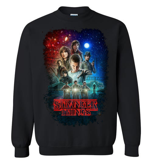 Stranger Things Tv Show/Sci Fi/ Netflix Series , v7, Gildan Crewneck Sweatshirt