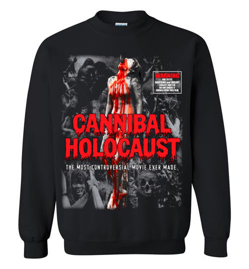 Cannibal Holocaust Ruggero Deodato Horror Zombies Movie, v4, Gildan Crewneck Sweatshirt