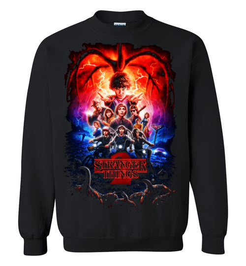 Stranger Things, Tv Show/Sci Fi/ Netflix Series ,v12,Gildan Crewneck Sweatshirt
