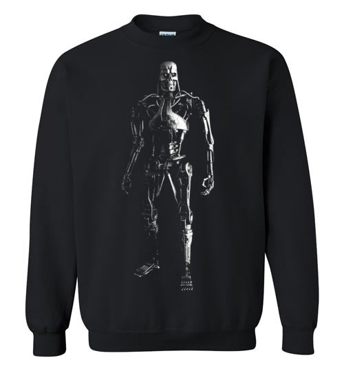 The Terminator, science-fiction action film, Arnold Schwarzenegger,cult classic,movie,v1,Gildan Crewneck Sweatshirt