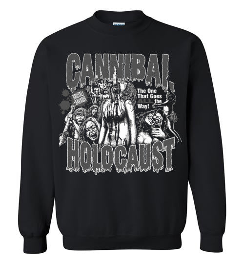 Cannibal Holocaust Ruggero Deodato Horror Zombies Movie , v2, Gildan Crewneck Sweatshirt