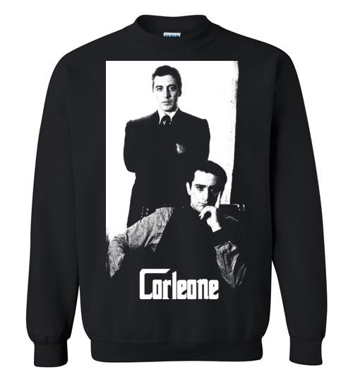 The Godfather Corleone Mafia Robert De Niro Al Pacino v2a , Gildan Crewneck Sweatshirt