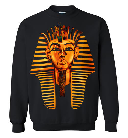 Egyptian Pharaoh King Tut HipHop Dope Swag Illuminati v1, Gildan Crewneck Sweatshirt