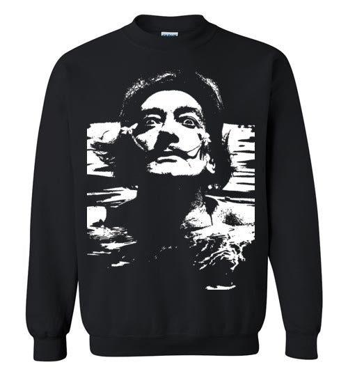Salvador Dali in the water,Crewneck Sweatshirt