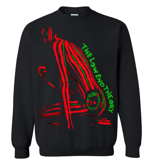 ATCQ A Tribe called Quest Classic Hip Hop New York City Low End Theory Phife Dawg Q-tip , v2, Gildan Crewneck Sweatshirt