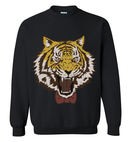 Yuri Plisetsky Tiger with bowtie as shown in show , Gildan Crewneck Sweatshirt