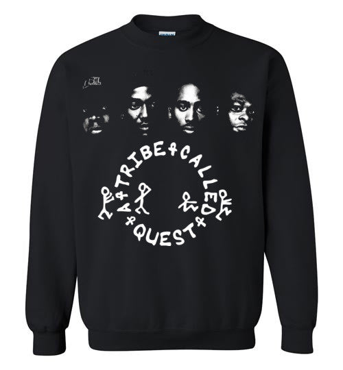 ATCQ A Tribe called Quest Classic Hip Hop New York City Low End Theory Phife Dawg Q-tip ,v7, Gildan Crewneck Sweatshirt