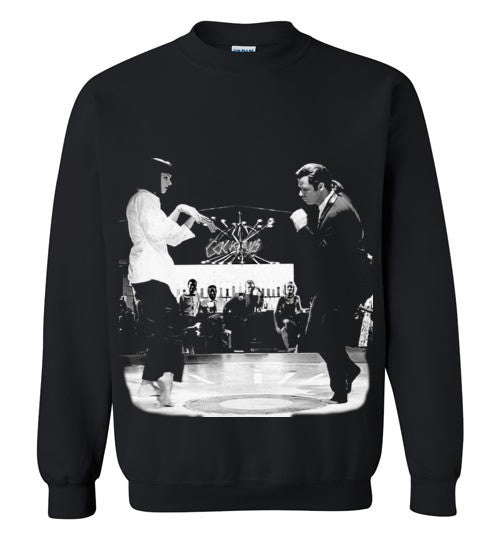 Pulp Fiction Dance, Quentin Tarantino,  John Travolta, Vincent & Mia , Gildan Crewneck Sweatshirt