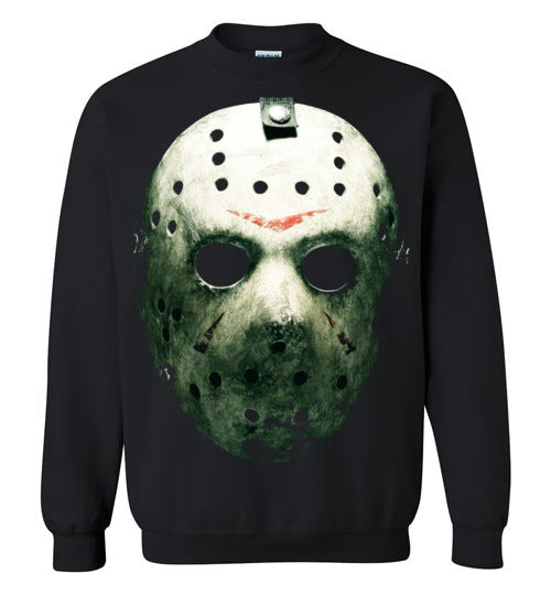 Friday the 13th Horror Movie Classics Vintage Shocker Splatter Gore Jason Voorhees ,v6,Gildan Crewneck Sweatshirt