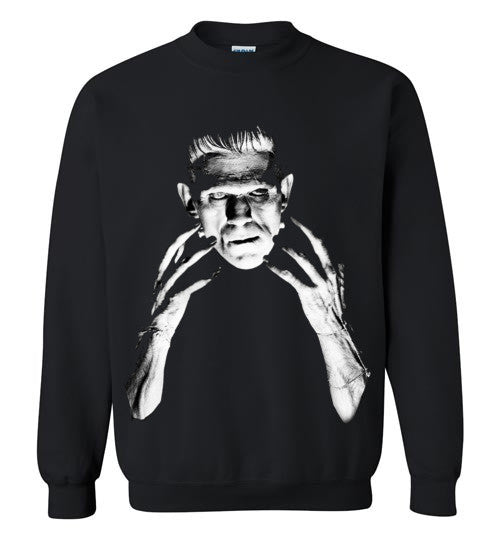 Frankenstein Movie Boris Karloff 1931  Gildan Crewneck Sweatshirt Black