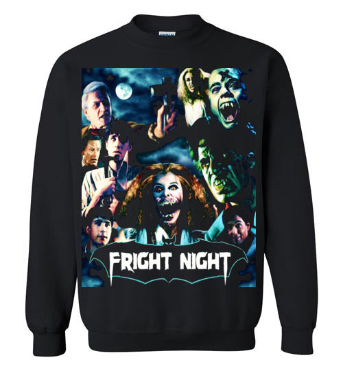 Fright Night 1985 Horror Movie Vampires Dracula classic cult vampire film,v1,Gildan Crewneck Sweatshirt