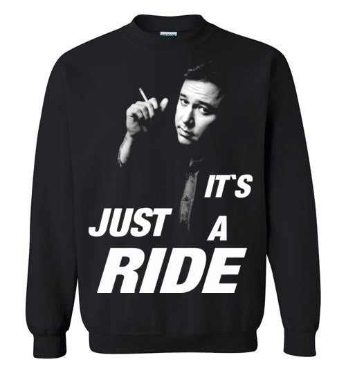Bill Hicks It's Just A Ride, v3, Gildan Crewneck Sweatshirt