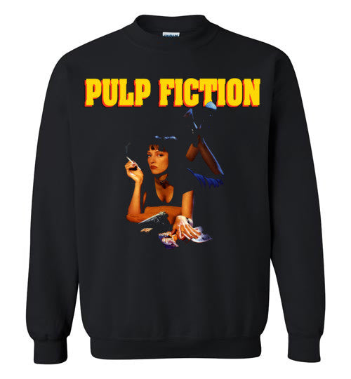 Pulp Fiction Mia Wallace , quentin tarantino, mobsters, john travolta, vincent, jules, v7, Gildan Crewneck Sweatshirt