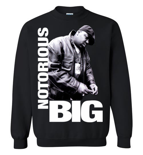 Notorious BIG Biggie Smalls Big Poppa Frank White Christopher Wallace,Bad Boy Records, Hip Hop New York Brooklyn,v9, Gildan Crewneck Sweatshirt