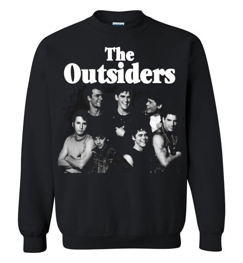 The Outsiders,drama film, Francis Ford Coppola,Rob Lowe, Emilio Estevez, Matt Dillon, Tom Cruise, Patrick Swayze, Ralph Macchio,1983,cult classic,movie,v2,Gildan Crewneck Sweatshirt