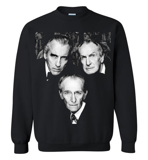Christopher Lee Vincent Price and Peter Cushing Dracula Vampire Cult Movie Horror Classic , Gildan Crewneck Sweatshirt