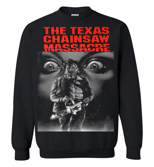 The Texas Chain Saw Massacre,1974 horror film,Leatherface,Ed Gein, slasher,v1,Gildan Crewneck Sweatshirt