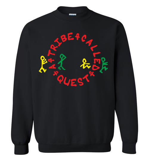 ATCQ A Tribe called Quest Classic Hip Hop New York City Low End Theory Phife Dawg Q-tip, v1a, Gildan Crewneck Sweatshirt