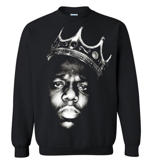 Notorious BIG Biggie Smalls Big Poppa Frank White Christopher Wallace,Bad Boy Records, Hip Hop New York Brooklyn,v1,Gildan Crewneck Sweatshirt