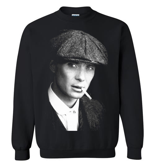 Peaky Blinders,gangster family,crime drama Birmingham, Tommy Shelby,Cillian Murphy,Chester Campbell,Shelby family,v7, Gildan Crewneck Sweatshirt