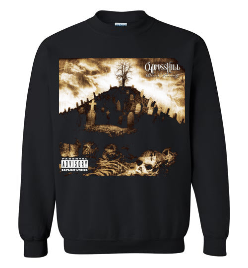 Cypress Hill,Black Sunday,1993 Album,Insane in the Brain,Hand on the Glock,Hits from the Bong,Classic Hip Hop,v1,Gildan Crewneck Sweatshirt