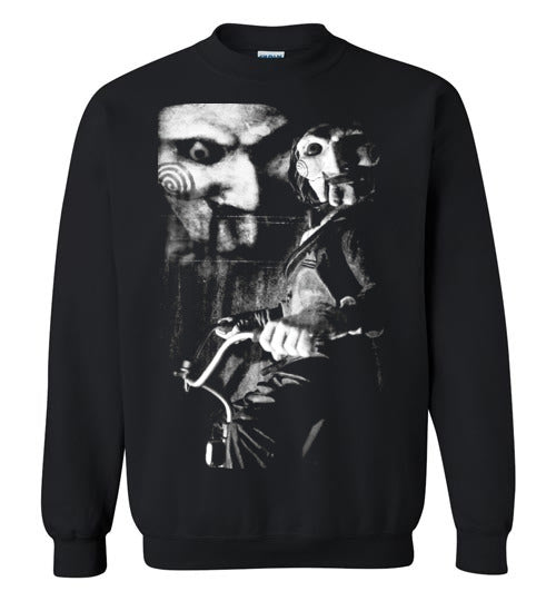 Saw, horror film,v1,Gildan Crewneck Sweatshirt