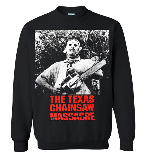 The Texas Chain Saw Massacre,1974 horror film,Leatherface,Ed Gein, slasher,v8b,Gildan Crewneck Sweatshirt