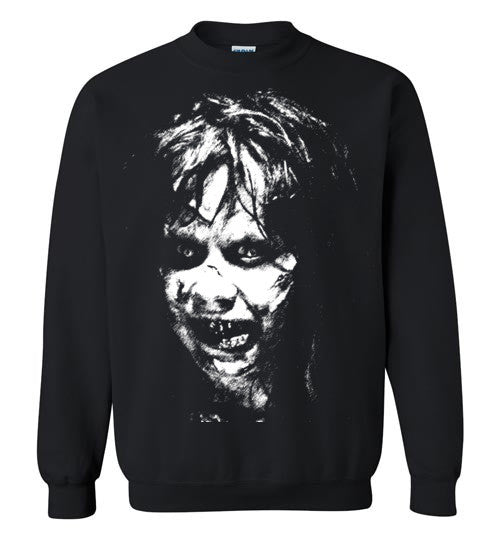 The Exorcist Linda Blair Classic Horror Movie Occult Supernatural Demons Satan,v3, Gildan Crewneck Sweatshirt