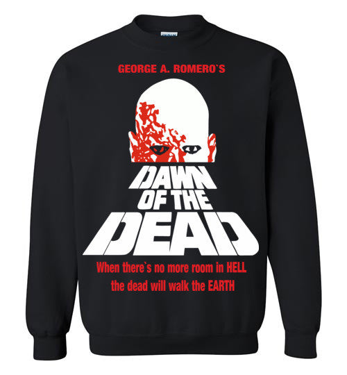 Dawn of the Dead vintage retro classic horror movie zombie , Gildan Crewneck Sweatshirt