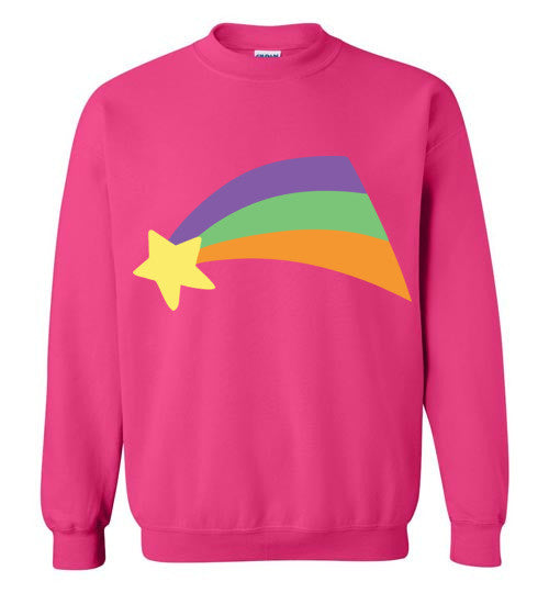 Mabel Pines Shooting Star Rainbow Gravity Falls Cosplay  Gildan Crewneck Sweatshirt