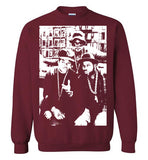 RUN DMC, Classic Hip Hop,New York,Old School Rap,Def Jam,v2,Gildan Crewneck Sweatshirt