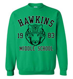 Stranger Things Hawkins Middle School 1983 , v1, Gildan Crewneck Sweatshirt