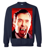 Dracula Christopher Lee Vampire Cult Movie Bram Stocker , v5, Gildan Crewneck Sweatshirt