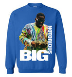 Notorious BIG Biggie Smalls Big Poppa Frank White Christopher Wallace,Bad Boy Records, Hip Hop New York Brooklyn,v8b, Gildan Crewneck Sweatshirt