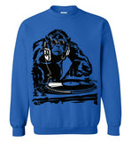 Monkey DJ Music Club Party , Gildan Crewneck Sweatshirt