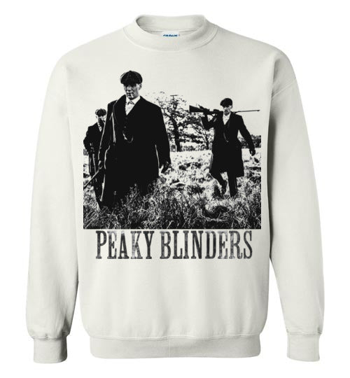 Peaky Blinders,gangster family,crime drama Birmingham, Tommy Shelby,Cillian Murphy,Chester Campbell,Shelby family,v1, Gildan Crewneck Sweatshirt
