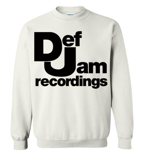 Def Jam Recordings Classic Hip Hop Run Dmc Beastie Boys Public Enemy Kanye West Rick Ross ,v2, Gildan Crewneck Sweatshirt