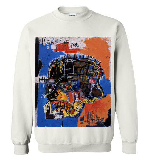 Jean Michel Basquiat Artist Graffiti Icon Art Genius Designer New York City Fashion Street Wear v2, Gildan Crewneck Sweatshirt