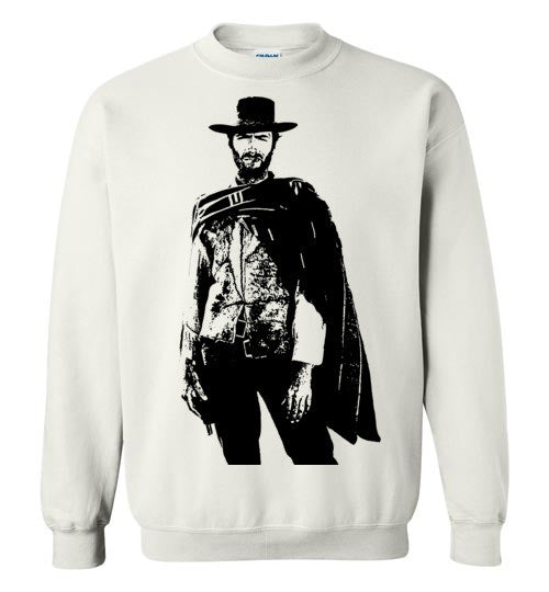 Clint Eastwood - The Man with No Name , v1 , Gildan Crewneck Sweatshirt
