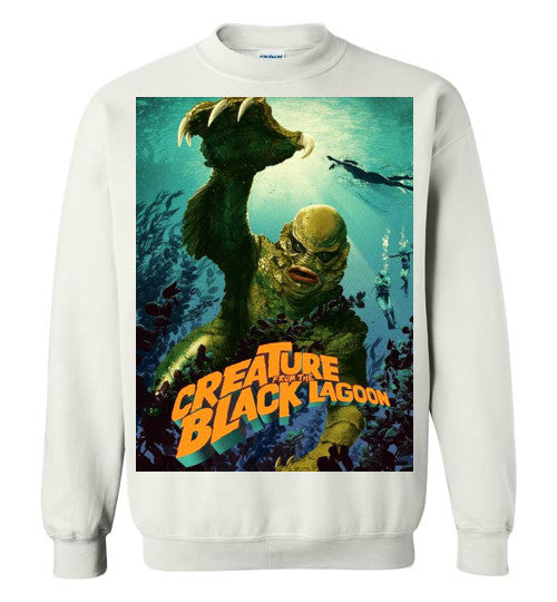 Creature from the Black Lagoon Classic Horror Movie, v3, Gildan Crewneck Sweatshirt
